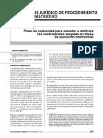 Plazo de Caducidad Para Someter a Arbitraje Las Controversias Surgidas en Etapa de Ejecución Contractual. (2)