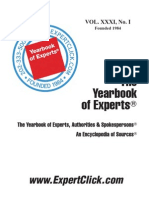 Yearbook of Experts 31th