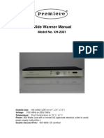 Manual - Slide Warmer - XH-2001