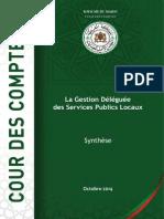 La Gestion Déléguée Selon La Cour-Des-comptes2014