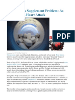 The Calcium Supplement Problem as Serious as a Heart Attack