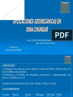 Aplicaciones Geomecanicas en Mina Chungar