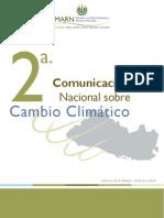2a Comunicacion Sobre Cambio Climatico El Salvador