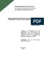 2012 - Análise Numérica de Perfis de Aço Formados a Frio Submetidos a Tração Com Ligações Parafusadas.