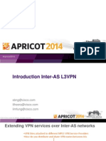 Apricot2014 - Inter-As l3vpn