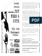 National Convention Against Fees & Cuts Flyer
