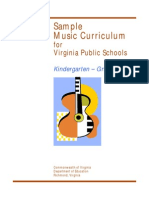 K-5 Sample Music Curriculum