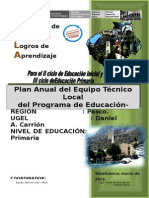 Plan Anual 2012 Ugel Daniel Carrión