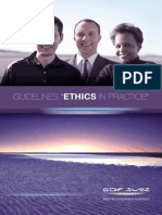 Guidelines Ethics in practice