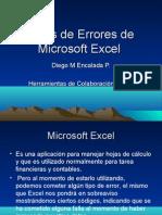 Tipos de Errores de Microsoft Excel