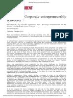 MBA Blog_ Corporate Entrepreneurship is Needed