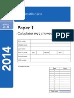 2014 KS2 Maths Test 1