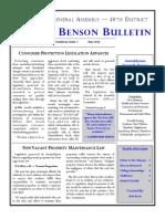 Benson Newsletter Volume 3 Issue 2