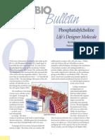 Phosphatidylcholine Life's Designer Molecule