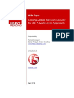 Scaling Mobile Network Security for Lte Patrick Donegan Heavy Reading
