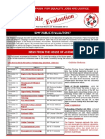 Newsletter - Nov 2014 Public Evaluations