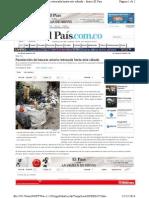 Cali Colapso Basuras Dia-festivo Transito Intermunicipal Yotoco