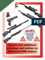 HW Warning Airguns Weihrauch
