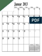 Gregorian Calendar
