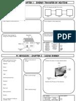 P1 Revision Sheets