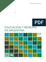 Educacion y Memoria