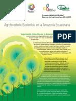 Agroforestería Sostenibles en La Amazonía Ecuatoriana 2012-2013