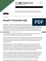 Israel's Terrorist Aid