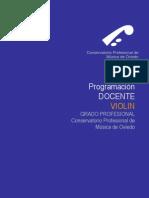 PROGRAMACIÓN VIOLÍN - Conservatorio de Oviedo
