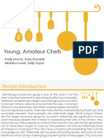 young amateur chefs creative brief