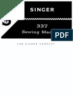 Singer 337 Sewing Machine Manual