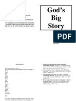 God's Big Story Blank Booklet
