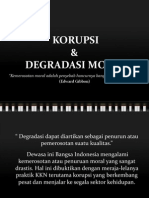 Degradasi Moral & Korupsi