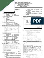 Soal Dan Pembahasan Tryout Bahasa Inggris Kelas 9 Xi Smp Malang