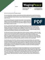 Letter to Ban Ki Moon Re ICC & Sudan