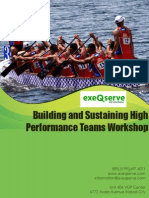 Building and Sustaining High Performing Teams