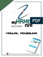 Manual MyHRMISCuti