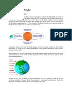 Declination Angle