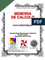 Memoria de Calculo Nave Industrial