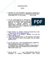Labor Relations Case Digest
