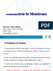 Osmometria de Membrana