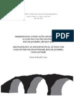 Arqueologia Como Ação Sociopolítica o Caso Do Cais Do Valongo RJ Século XIX