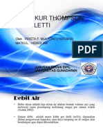 Alat Ukur Thompson & Cipoletti