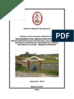 070310 PIP Mejoramiento Servicio Educativo I. E. Victor Haya de La Torre en Chicha Larcay_Sucre