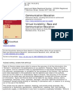 Virtual Invisibility Race and Communication Education