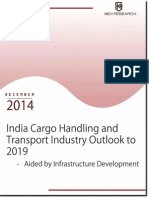 Market Report - India Cargo Transport Industry to 2019