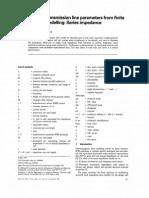 Railway Line Transmission Line Parameters
