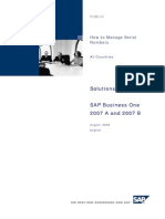 How to Manage SN SAP B1