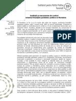 Institutii Si Mecanisme de Control in Domeniul Finantarii Partidelor Din Romania