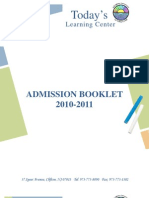 Admissions Booklet (TLC) v1 9.11.09 COMPLETE
