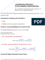 Maple in Mathematics Education i Fourier Series Wave Equat
